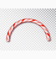 christmas candy border isolated blank christmas vector image vector image