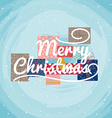 Christmas Greeting Card typography vector image vector image
