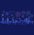 city holiday celebration panorama with bright vector image vector image