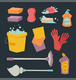 cleanser bottle chemical housework product care vector image vector image