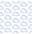 cloud data storage seamless pattern with line vector image vector image