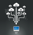 cloud infographic graph vector image vector image