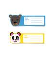 cute animal safari cartoon address label design
