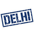 delhi blue square stamp vector image vector image