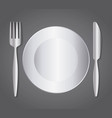 dish fork knife cutlery symbol vector image vector image