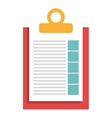 Document or simply sheet isolate flat icon vector image
