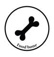 Dog food bone icon vector image vector image