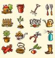 doodle icons garden vector image vector image