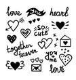 doodle love elements vector image vector image