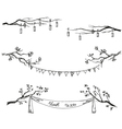 Doodle tree branches vector image vector image