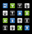 drinks icons gelbox series vector image