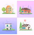 eco-friendly place - set of modern flat design vector image vector image