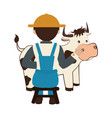farmer avatar character icon vector image vector image