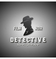 Film Noir Detective Abstract Emblem Label vector image