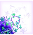 Floral violet on grunge background vector image vector image