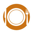 fork and knife cutlery vector image vector image