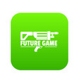 future game icon green vector image