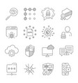 gdpr concept line icons general data vector image