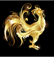 gold rooster vector image vector image