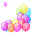 Group of colorful balloons isolated on white vector image vector image