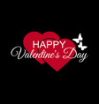 happy valentines day hearts and butterflies vector image vector image