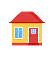 house flat icon with red roof flat style vector image