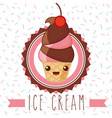 ices scream kawaii vector image vector image
