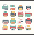 Icon Color Printer set vector image