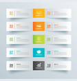 infographics tab in horizontal paper index vector image vector image