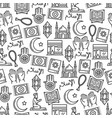 islam religion and muslim culture icons seamless vector image vector image