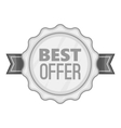 Label best offer icon gray monochrome style vector image vector image