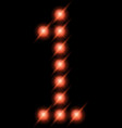 led digits 1 vector image vector image
