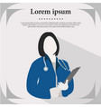 medical doctor profile icon female portrait flat d vector image