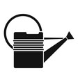 metal watering can icon simple style vector image vector image