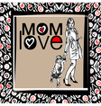 mom love vector image vector image