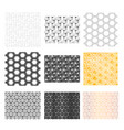 nine different abstract geometric patterns vector image