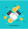 partnership flat concept vector image