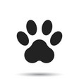 paw print icon isolated on white background dog vector image vector image