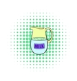 Pitcher of milk icon comics style vector image vector image
