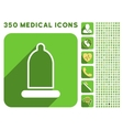 Preservative Icon and Medical Longshadow Icon Set vector image vector image