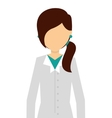 professional scientific woman job isolated icon vector image vector image
