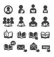 read icon set vector image vector image