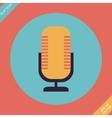 Retro microphone icon - vector image
