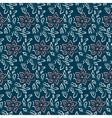 Seamless flower plant pattern background vector image vector image
