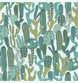 seamless pattern with cactus repeated vector image vector image