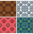 seamless round art pattern set vector image vector image