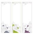 Set of Polygonal Banners vector image