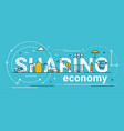 Sharing economy line concept