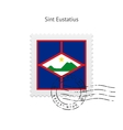 Sint Eustatius Flag Postage Stamp vector image vector image