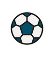 soccer ball icon on white background vector image vector image